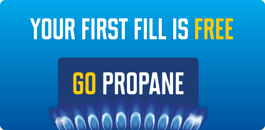 Your first fill is free. Go propane.